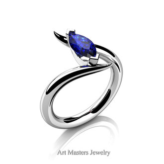 jewels blue sapphire white gold white gold ring sapphire sapphire ring hipster classy avant garde jewelry marquise engagement ring wedding glamour vogue fierce fine jewelery marquise stone 1 carat sapphire promise ring 14k gold jewelry iwantthisreallybad