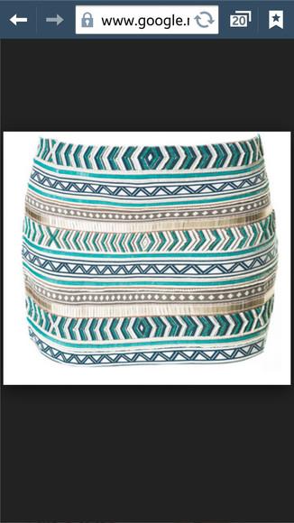 turquoise aztec