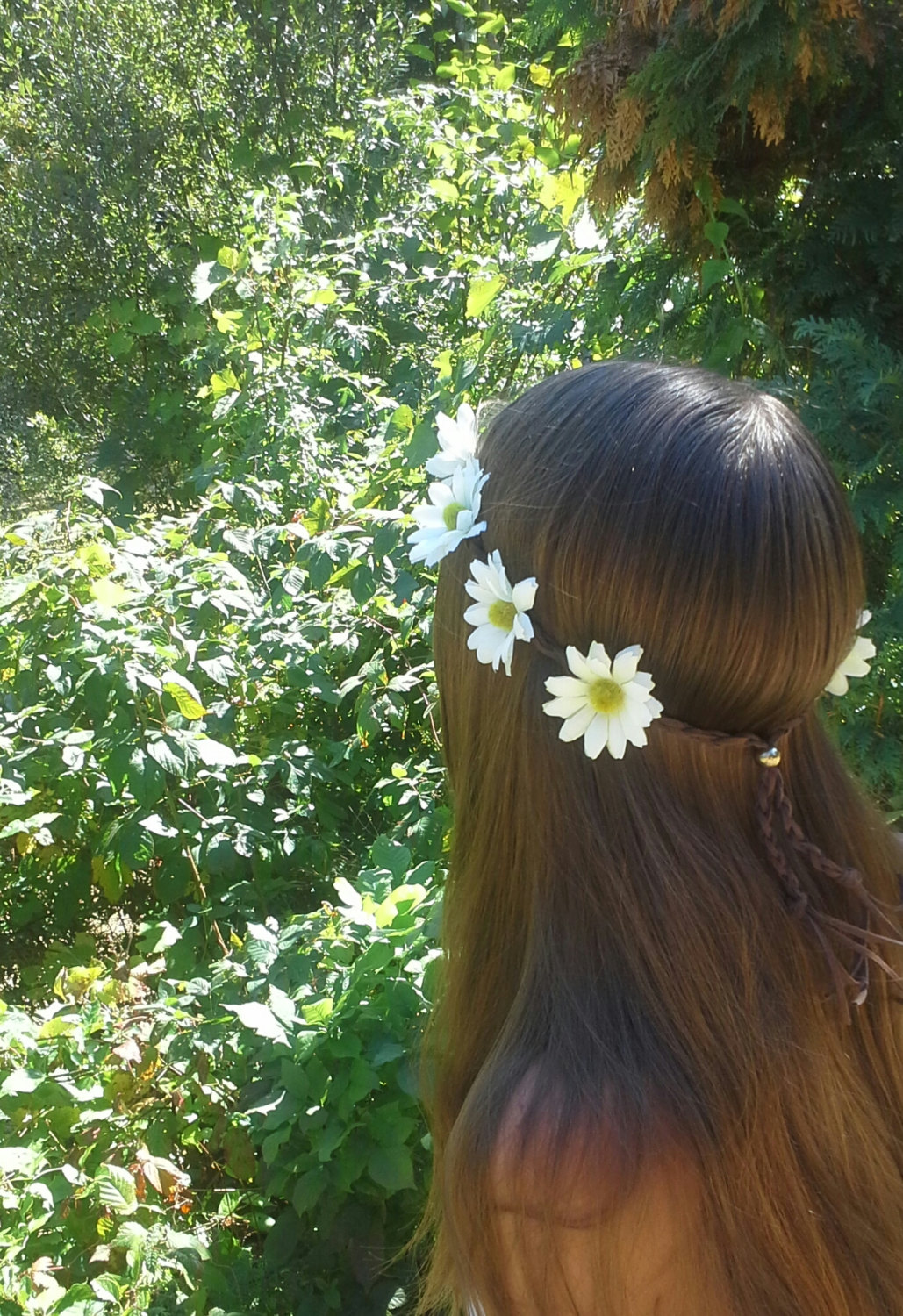 Daisy Flower Crown Flower Headband Daisy Head Band White Daisies