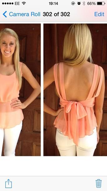 shirt peach top