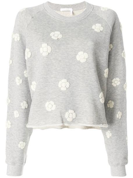 Chloe sweatshirt women daisy cotton grey sweater