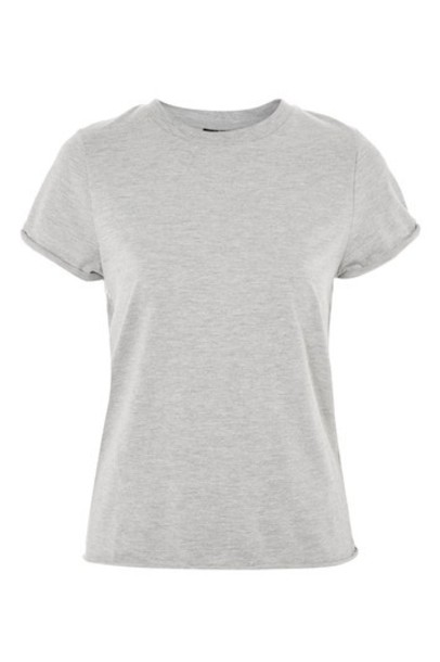 Topshop t-shirt shirt t-shirt back grey top