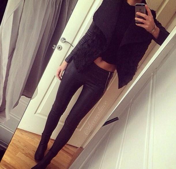 cardigan faux fur vest