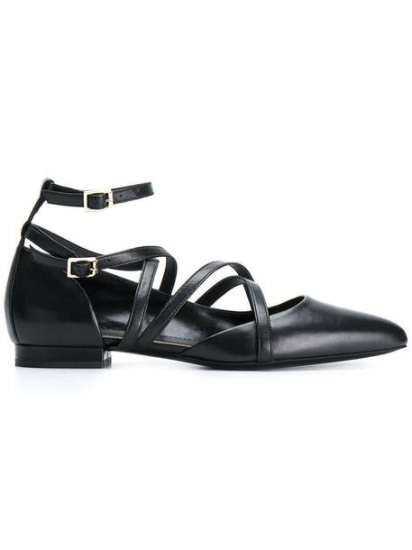 lanvin strappy women pumps leather black shoes