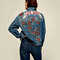 Denim jacket with embroidered roses - jackets-sale-woman | zara macedonia