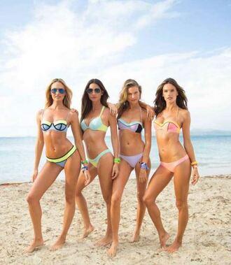 swimwear victoria's secret bikini bikini bottoms bikini top lily aldridge alessandra ambrosio candice swanepoel