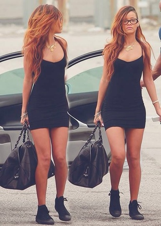dress black dress rihanna bodycon dress sexy sexy dress jersey dress
