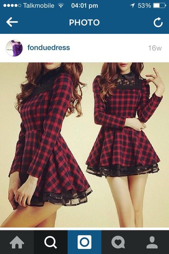 dress tartan tartan dress red dress black dress red and black dress red and black