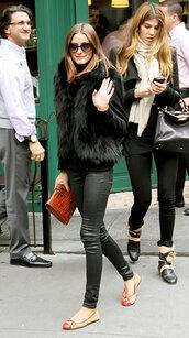 jacket,pink fur,blue fur,olivia palermo,faux fur jacket,faux fur,black faux fur coat,fur,fur vest,black fur coat,white fur,fur white,jacket coat winter cold blue fur,blue,pink,black,white,the city,celebrity style steal,celebrity style,black fur vest