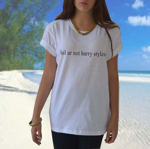 LOL UR not Harry Styles T Shirt 1D One Direction Band Tumblr Funny Unisex Tee | eBay