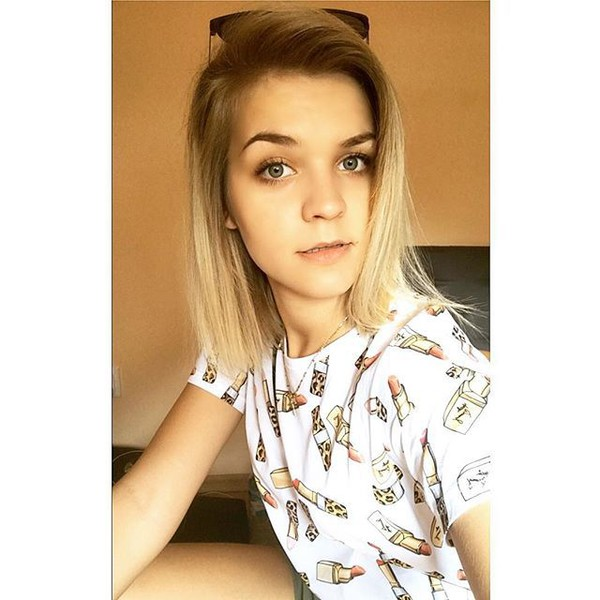 t-shirt yeah bunny lipstick leo girly summer white leopard print