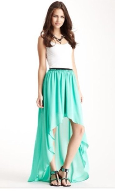 Dress Blue Turquoise Aqua Hi Lo High Low Hi Lo Dress Wheretoget