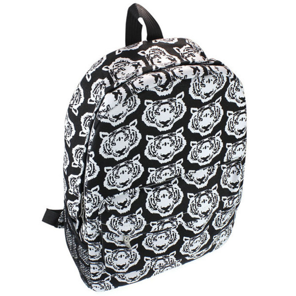 bd6dd7304acb bag identity owl backpack back to school cute black white tiger streetwear  streetstyle print