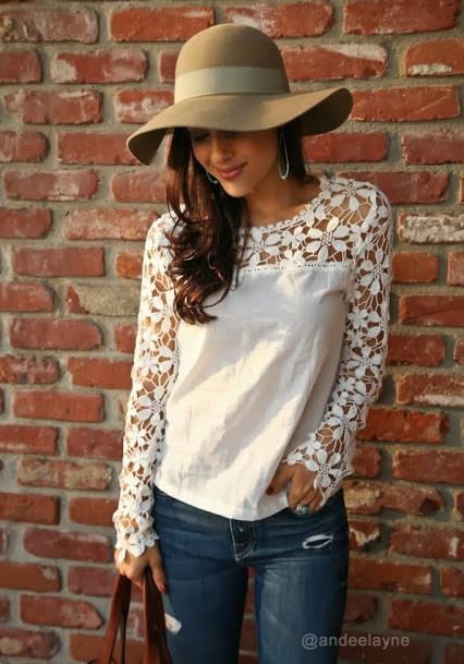 Cut Out Crochet Top - Lookbook Store