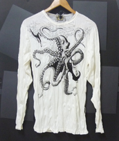 sweater,squid,octopus,sea animal,women shirt,men tshirt,men tees,men t shirt,long sleeves