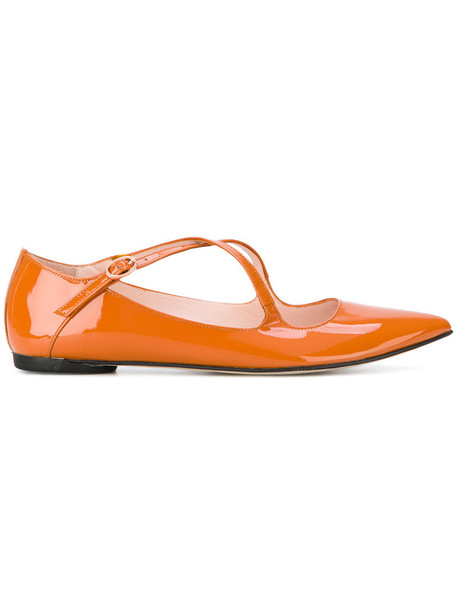 Repetto women leather yellow orange shoes