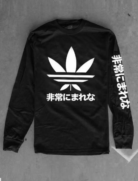 sale retailer 32046 38e17 sweater, black, white, adidas, tumblr, tumblr sweater, cotton ...