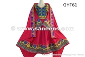 dress,traditional afghan dress,saneens afghan dress,handmade,afghanistan fashion