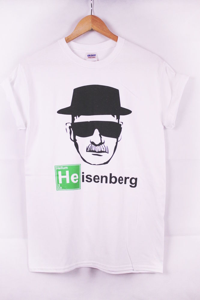 New Unisex Breaking BAD HEISENBERG Printed T-shirt **Grey & White** | eBay