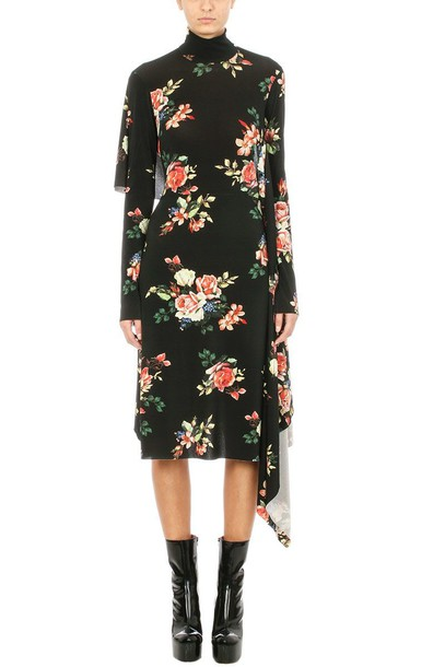 Vetements dress print dress print black