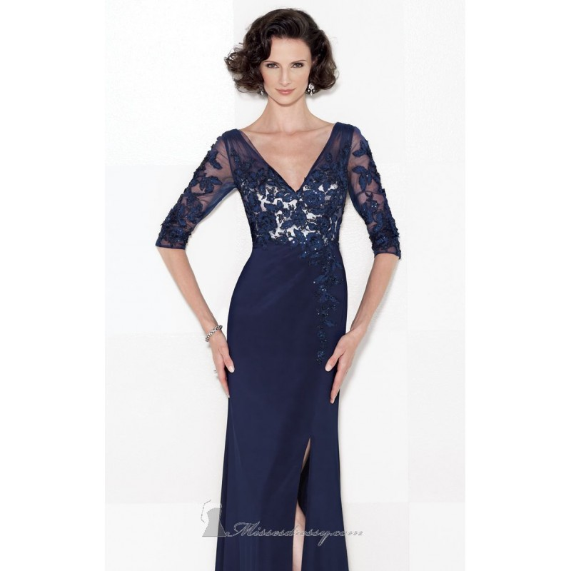 Jersey Soft Tulle Gown by Cameron Blake 114663 - Bonny Evening Dresses Online