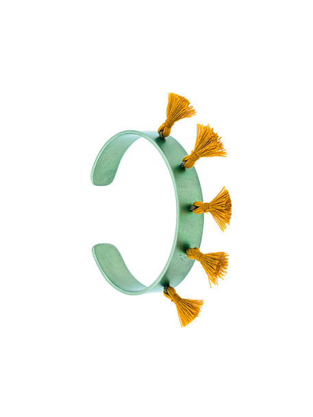 Eye M By Ileana Makri cuff tassel women green jewels