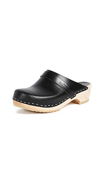 Swedish Hasbeens clogs black shoes
