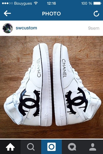 shoes nike chanel