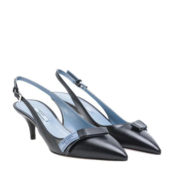 Prada back pumps black shoes