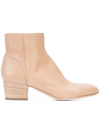 women boots ankle boots leather nude shoes