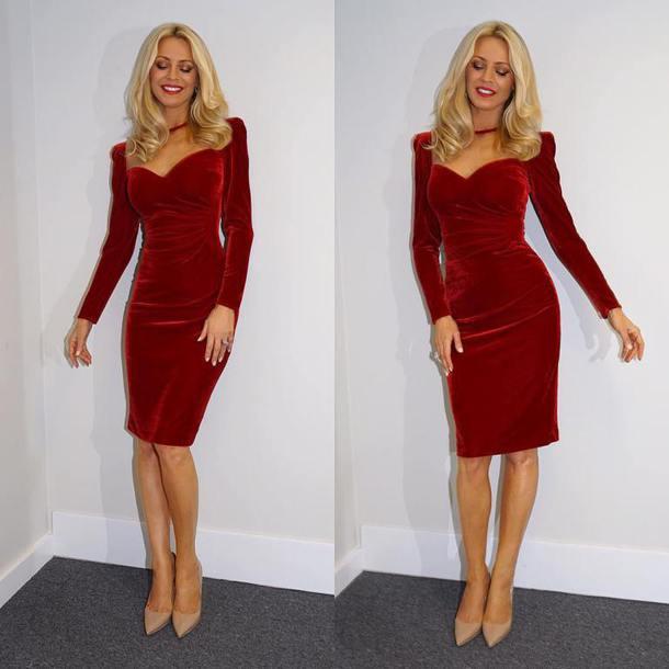 dress tess daly strictly red velvet dress halloween