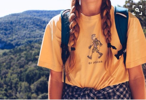 5d26b0d3c0e shirt life is good good life adventure go places mountains yellow yellow shirt  hiking love old.