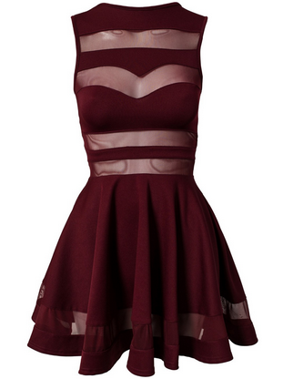 Black Mesh Cut Out Dress