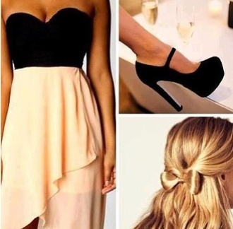 dress bustier bustiers black bustier beige dress beige beige skirts black noir noire robe robes jupe asymétrique chaussures talons hauts chaussures shoes black shoes talon talons soirée party