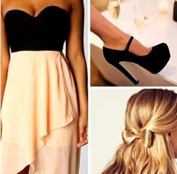 black shoes black shoes dress bustier bustiers black bustier beige dress beige beige skirts noir noire robe robes jupe asymétrique chaussures talons hauts chaussures talon talons soiree party