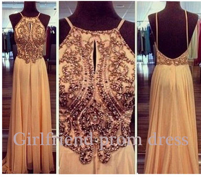 Line beaded chiffon prom dress, graduation dress, bridesmaid dress, evening dress, formal dress · girls prom dresses on storenvy