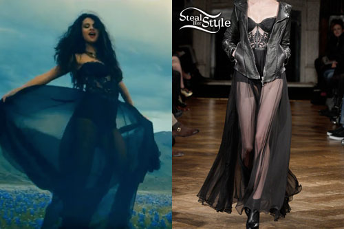 Black Dress Selena Gomez Come And Get It May 2017