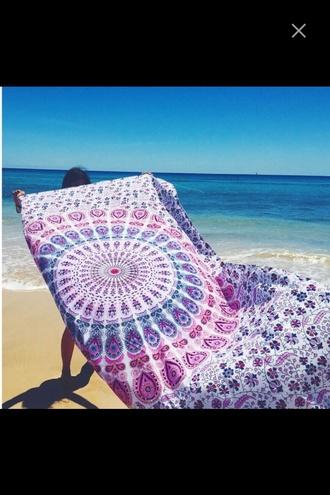 home accessory purple blue white mandala sexy pareos multi colored beach pareo