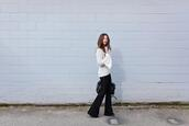 to bruck ave,blogger,top,sweater,bag