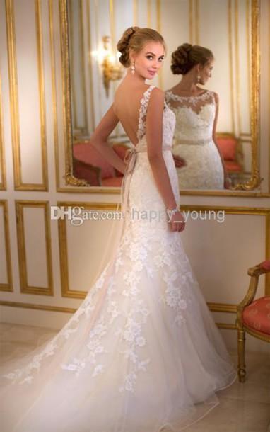 sash wedding dress, wedding gowns, wedding dress 2014, scoop wedding ...