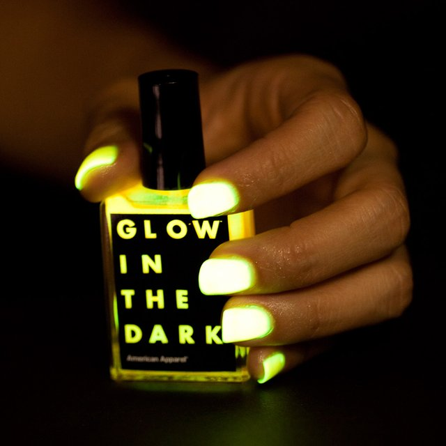 Glow in the dark nail polish by american apparel