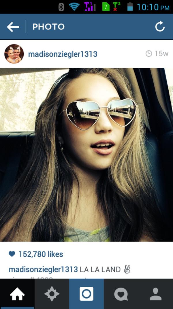 sunglasses heart sunglasses amazing