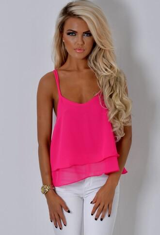 top pink boutique pink vest