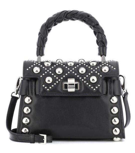 Miu Miu embellished bag shoulder bag leather black