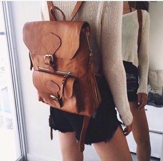 bag brown style fashion