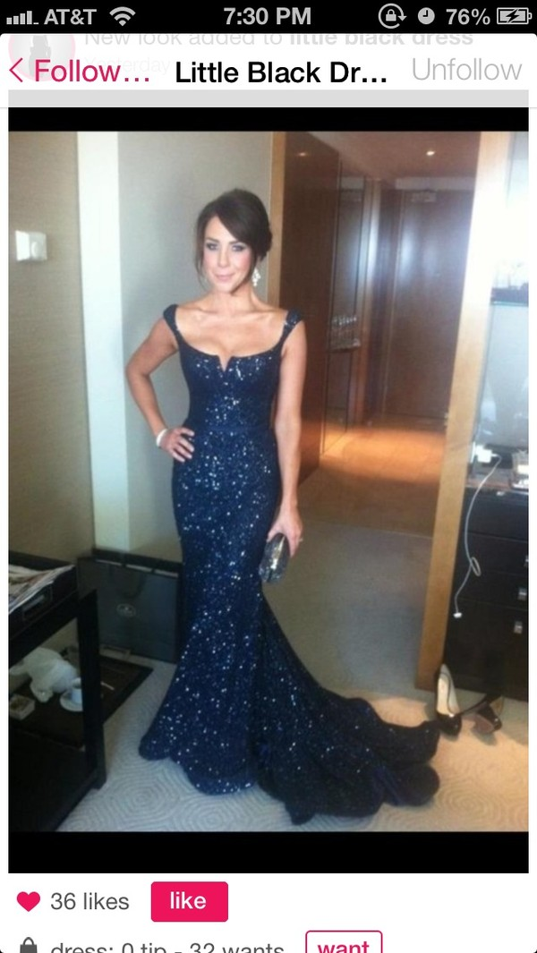 dress off the shoulder navy sparkly dress long prom dress prom dress