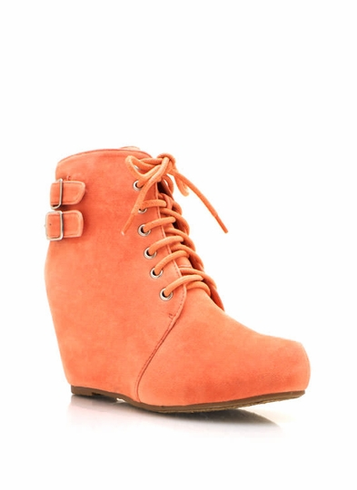 Booties melon mint nude tan