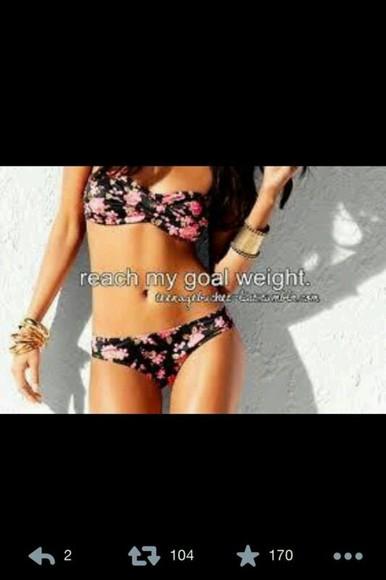 swimwear bikini bikini bottoms bikini top bikini, white, swim wear, perfect floral floral summer outfits clothes bikini's black bikini girly summerclothes
