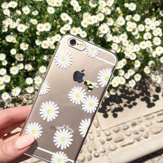 phone cover yeah bunny floral cute spring nails clear pale daisy daisies case iphone cover iphone case