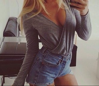 shirt top winter outfits loose fit gray